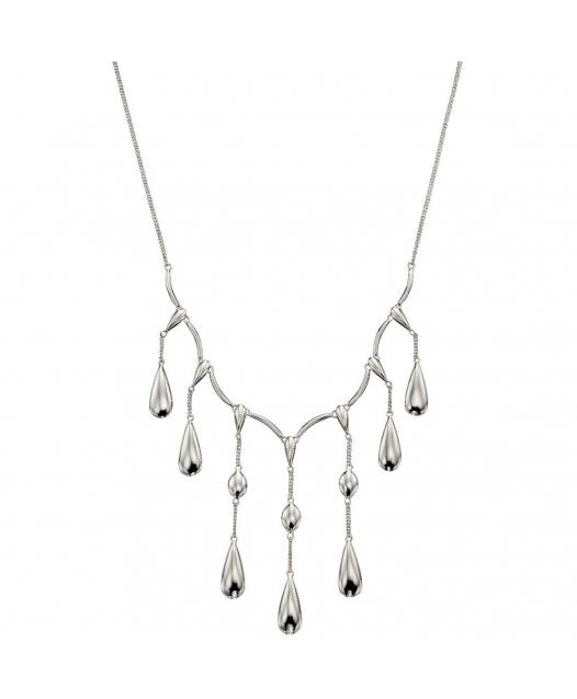 Collana in argento a cascata